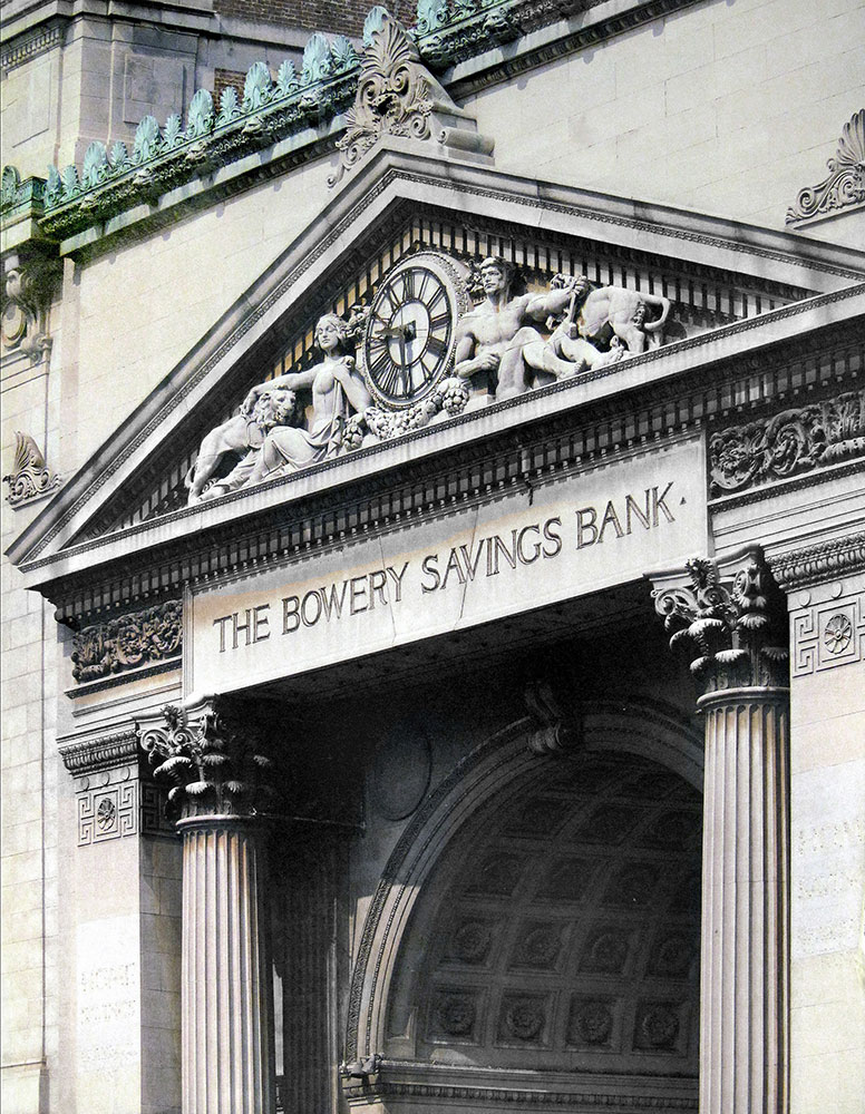 Bowery Savings Bank exterior. Photo: Jonathan Wallen