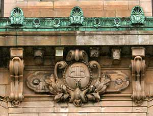 Detail from Bowery Bank, 124 Bowery (1902) photo by Sally Young