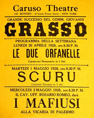 Caruso Theater Poster