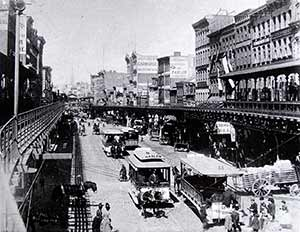 #The Bowery North from Canal circa 1888