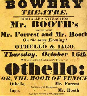 Bowery Theatre Poster