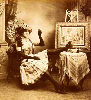 The Bowery Queen. A drag performer circa 1890s