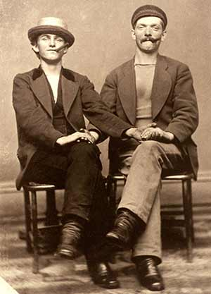Two Working Class Friends 1875-1890. Photo courtesy Jonathan Katz.